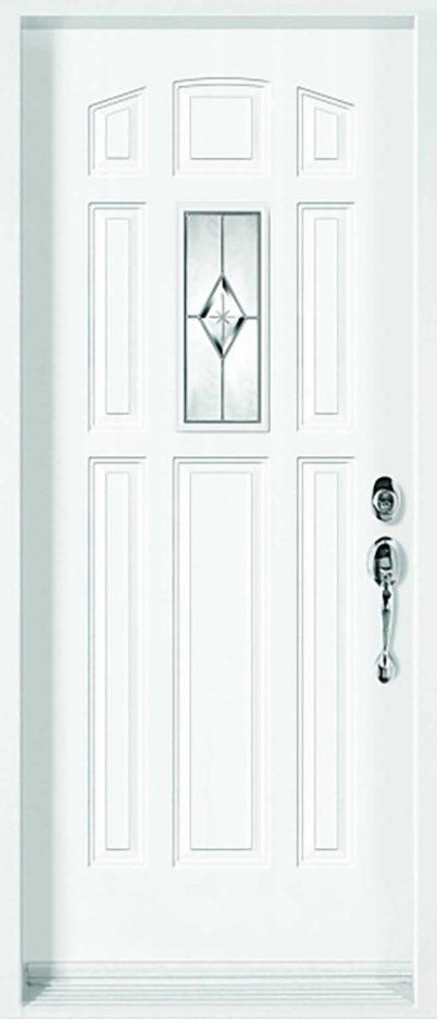 Porte d'entrée en acier de Style Diamant