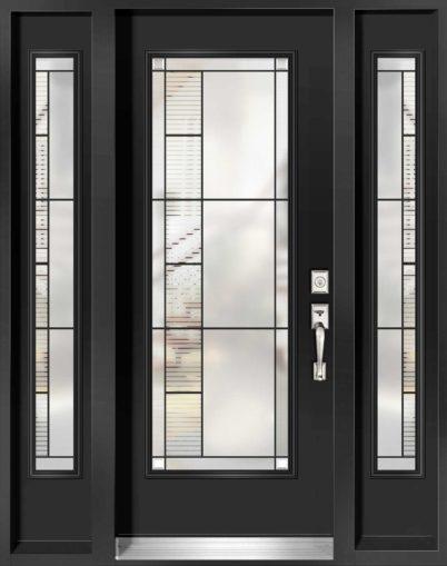 Porte d'entrée en acier de Style Endrick